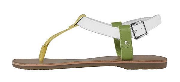TRAVEL FOX 繫踝皮繩羅馬涼鞋-細鞋繩(芥末黃.綠)_原價$2,600元_新品優惠價$1,500元