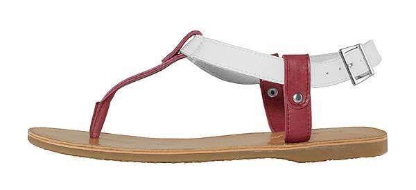 TRAVEL FOX 繫踝皮繩羅馬涼鞋-細鞋繩(紅)_原價$2,600元_新品優惠價$1,500元