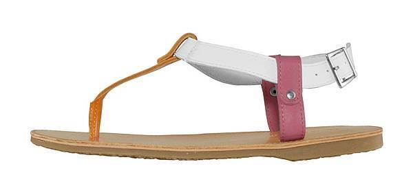 TRAVEL FOX 繫踝皮繩羅馬涼鞋-細鞋繩(桃紅.橘)_原價$2,600元_新品優惠價$1,500元