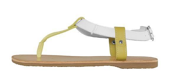 TRAVEL FOX 繫踝皮繩羅馬涼鞋-細鞋繩(黃)_原價$2,600元_新品優惠價$1,500元