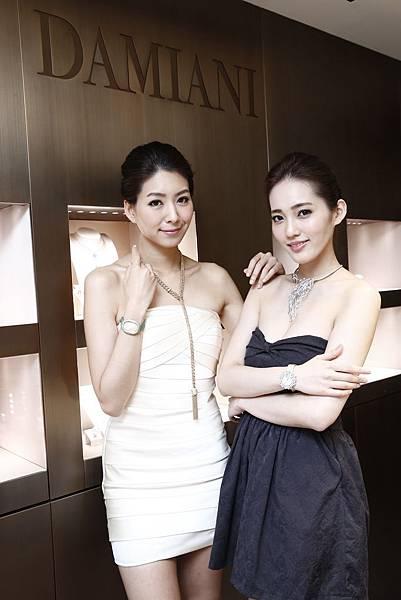 4.名模王予柔及徐自璇高雅出席DAMIANI 90週年珠寶展
