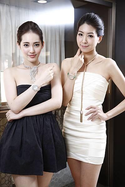 6.名模王予柔及徐自璇出席DAMIANI 90週年珠寶展,完美演繹各年代珠寶的不同風範