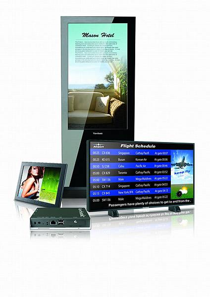 ViewSonic 全方位數位電子看板解決方案_情境圖