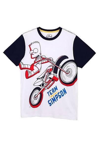 Hang Ten x The Simpsons 男裝-極限美式短袖T NT$1,190元