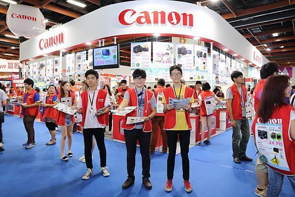 圖說二,Canon搶攻夏日買氣,在台北電腦應用展祭出多項優惠讓民眾享好康!