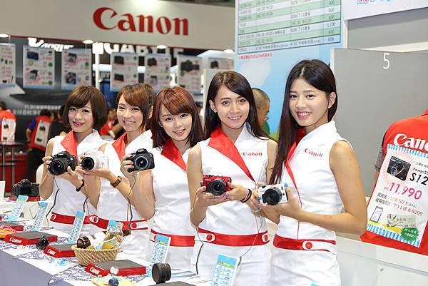 圖說一,Canon小甜心邀您來台北電腦應用展Canon攤位,享受夏日大優惠!