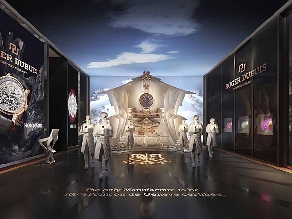 Roger Dubuis羅杰杜彼在2014年Watches&Wonders(鐘錶與奇跡)亞洲高級鐘錶展的展場