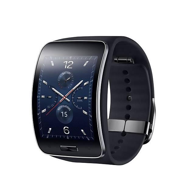 Samsung Gear S能舒適地服貼於手腕上,結合優雅的設計元素、曲面Super AMOLED螢幕和可彎曲的錶帶