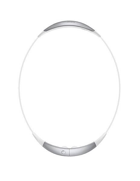 Gear Circle不使用的時候,可透過磁力鎖,環繞在使用者的頸部,有來電或簡訊通知時,便會震動提示
