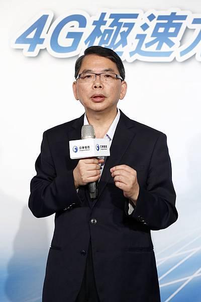 【新聞照2】中華電信行動通信分公司林國豐總經理宣布行動電話客戶數已突破1100萬,並推出震撼市場的「4G極速方案」優惠!