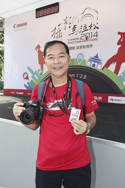 圖說四:2013年香港Canon攝影馬拉松金獎得主「陸明毅」也受邀來台參賽,帶著EOS單眼相機一同與台灣攝影玩家用相機拍攝城市美景
