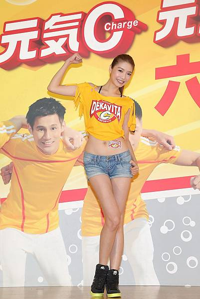 名模王尹平今(27)日出席三得利「元氣C」維他命補給飲料活動,在夏天即將結束之際,補充元氣,迎接新的挑戰!