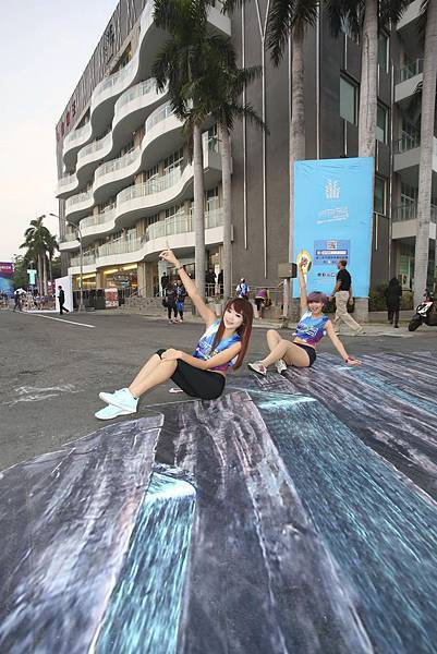 2014城市有愛高雄加油公益路跑賽 3D立體拍照區