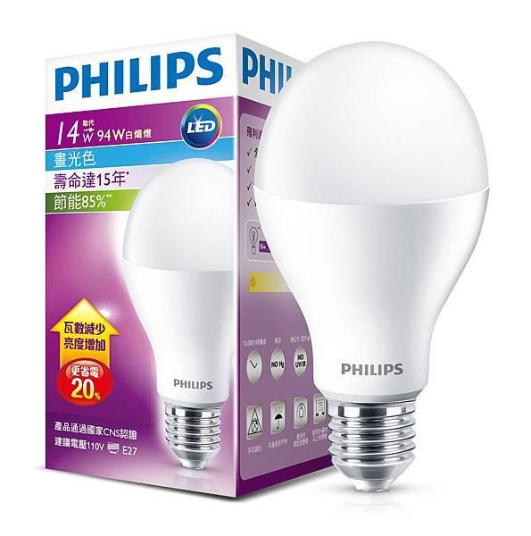 圖說飛利浦新一代LED燈泡為首批榮獲CNS國家安全認證以及節能標章與國家建築金獎的LED燈泡產品。圖飛利浦 提供