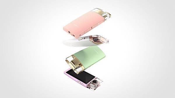 圖4.融合日系精緻與法式優雅的氣息的Sony【KW11】,令人睛豔的香水瓶概念設計,共有白、粉紅、綠與紫四款機身顏色供選擇