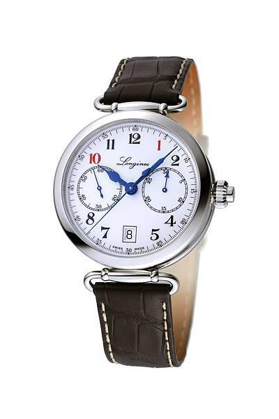 3.浪琴表導柱輪單按把計時碼錶全球限量101獨家錶款,建議售價$143,500