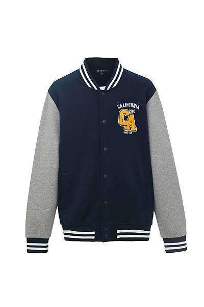 Hang Ten男裝-校園風棒球外套(藍) NT$2,390