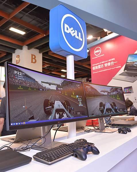 【圖四】Dell UltraSharp 34吋曲面顯示器展現絕佳環繞視野