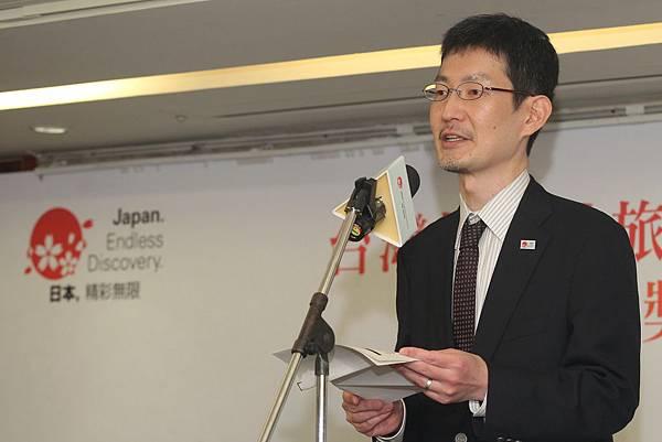 日本觀光廳國際觀光課外客誘致室長佐藤久泰致詞