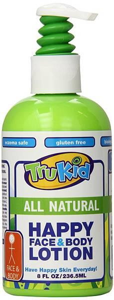 TruKid Happy Face & Body Lotion 快樂臉部與身體滋潤乳液。售價NT$650