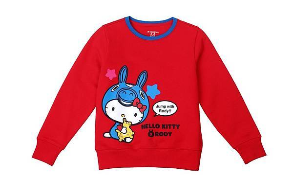 Hang Ten童裝-Hello Kitty x Rody聯名系列-Charming Holiday圓領長袖上衣 NT$1,990