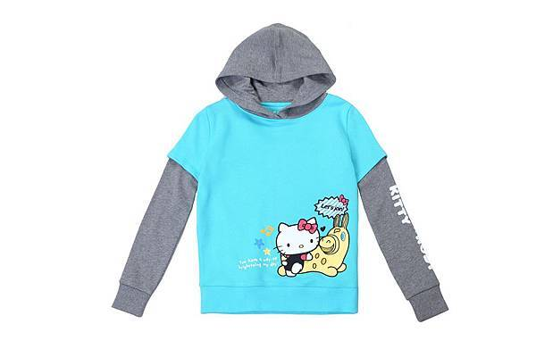 Hang Ten童裝- Hello Kitty x Rody聯名系列-Colorful party連帽長袖上衣 NT$2,490