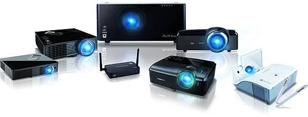 ViewSonic 投影機系列產品圖