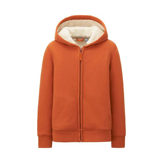 童装毛絨休閒連帽外套 (長袖) 原價NT$790,1月1日到1月8日限定價NT$390