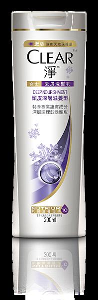 [CLEAR淨]女士去屑洗髮乳_頭皮深層滋養型_200ml 69元_冬季限量雪花版