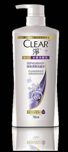 [CLEAR淨] 女士頭皮去屑洗髮乳_頭皮深層滋養型_750ml 259元_冬季雪花限量版