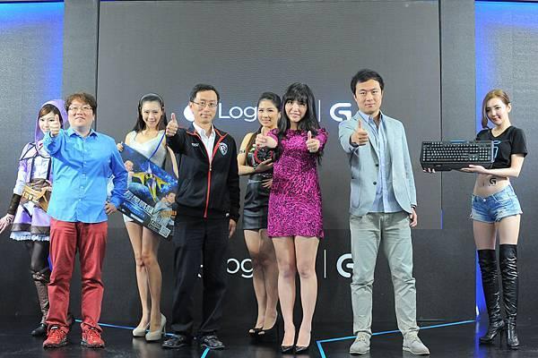【圖一】由羅技電子領軍與台灣競舞娛樂、微星科技、卡普空聯手打造遊戲新勢力