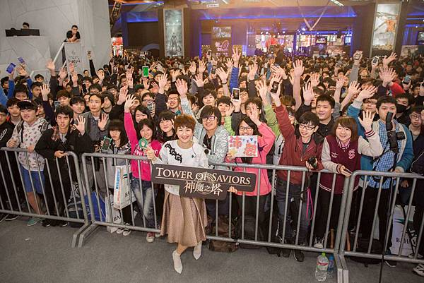 神魔之星012802-曾沛慈與神魔之塔玩家們歡聚台北電玩展