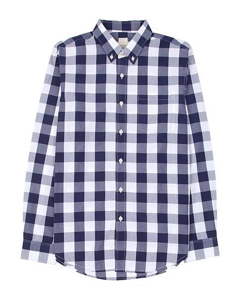 男裝多彩質感黑白格紋襯衫 $1200