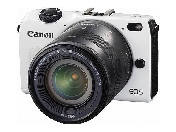 圖說四,EOS M2機身迷你、操作簡單,配合鏡頭轉接器,更可相容超過60支專業鏡頭,是一台兼具高畫質、輕巧及簡單易用的相機