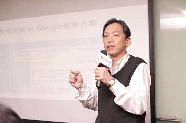 台灣微軟公共業務事業群教育事業協理 盧凱平 分享微軟教育方案 幫助師生輕鬆學習互動與評量