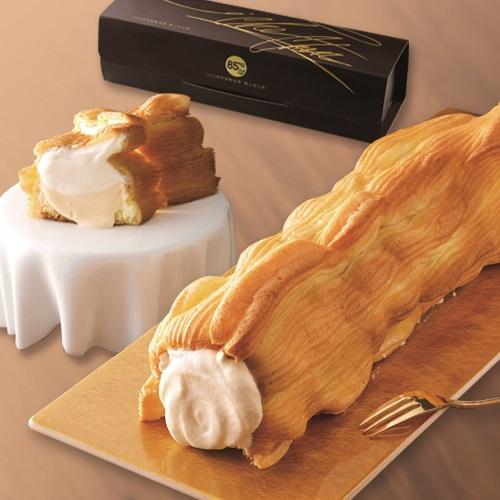 圖說二:【85度C】推出世界甜點冠軍主廚新作「融心泡芙神木捲」,多層次餡料與口感也能吃出滿心又幸福的感覺!
