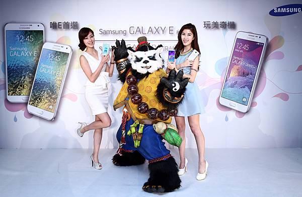 針對中階市場和年輕族群喜好,三星與RPG手機遊戲「太極熊貓」合作將提供8萬份獨家優惠超夯虛寶,凡GALAXY E系列使用者,皆有機會在3月15日至4月15日的活動期間從GALAXY Life應用程式中領取