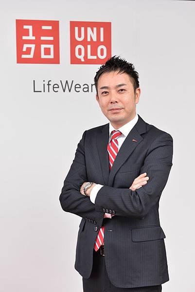 【圖一】UNIQLO台灣CEO末永智明發表新春願景,期許用更堅強的信念迎向2015年的挑戰