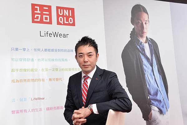 【圖二】UNIQLO台灣CEO末永智明表示,面對平價時尚國際品牌接連進軍台灣市場,UNIQLO將秉持初衷、穩健前行
