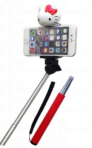 圖說四:相機手機都能用,還有超可愛的Hello Kitty加持,成為最可愛的自拍神器!