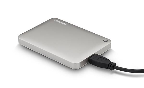 2.Toshiba推出Canvio Connect II外接式硬碟 產品圖(緞面金)。