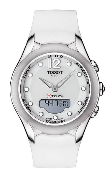圖7.天梭表TISSOT T-Touch Lady Solar太陽能觸控腕錶 建議售價NT$28,100