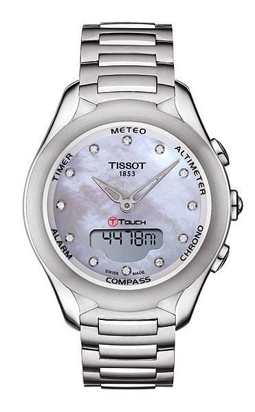 圖6.天梭表TISSOT T-Touch Lady Solar太陽能觸控腕錶 建議售價NT$ 42,200