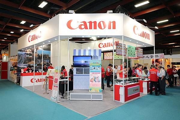 圖說一,Canon進駐春季旅展,推薦多款旅遊機種,讓民眾一站式購齊春遊行程及出遊必備相機