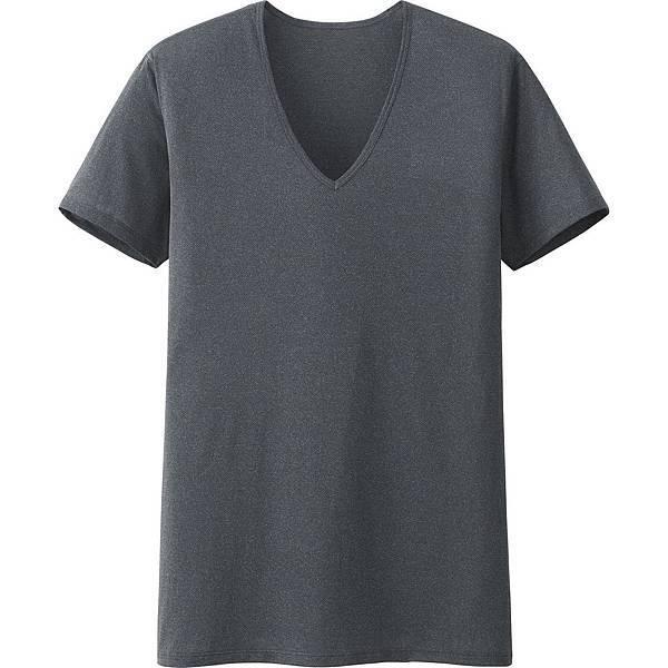 (新品)男裝AIRism網眼V領T恤 (短袖)_原價NT$390_327-329期間限定價NT$290