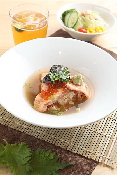 鮭魚親子玄米茶泡飯