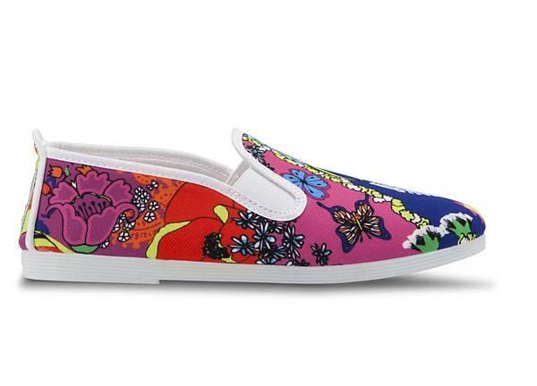 【FLOSSY女款-2015年4月上市】TARFIA休閒鞋  白色碎花 售價$1,650元-2