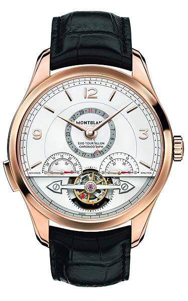 112542 萬寶龍Heritage Chronométrie傳承精密計時系列分鐘外置陀飛輪玫瑰金計時腕錶,建議售價NT$1,302,300