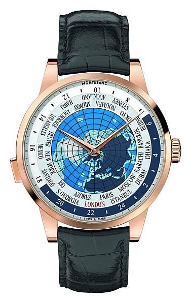 112307 萬寶龍Heritage Spirit傳承精神系列世界時區腕錶(Orbis Terrarum),建議售價NT$476,400