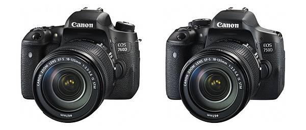 圖說一,Canon EOS 760D及EOS 750D兩款新機在台發售,結合進階功能與操控性,改寫輕量級單眼標準